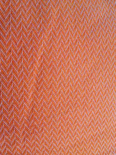 VIENNA ZIK-ZAK ORANGE Ριχτάρια βαμβακερά, πλενόμενα, Ελληνικής ραφής #home #decoration #livingroom #orange