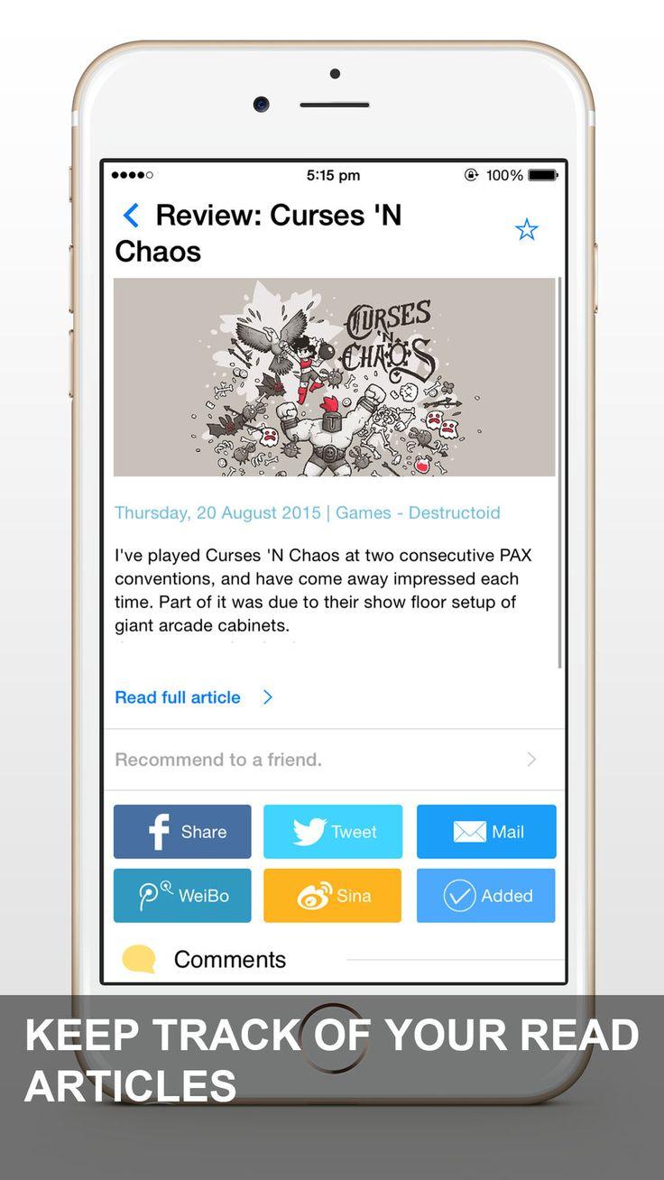 News App RSS Feed Reader BusinessSavySodaappsios