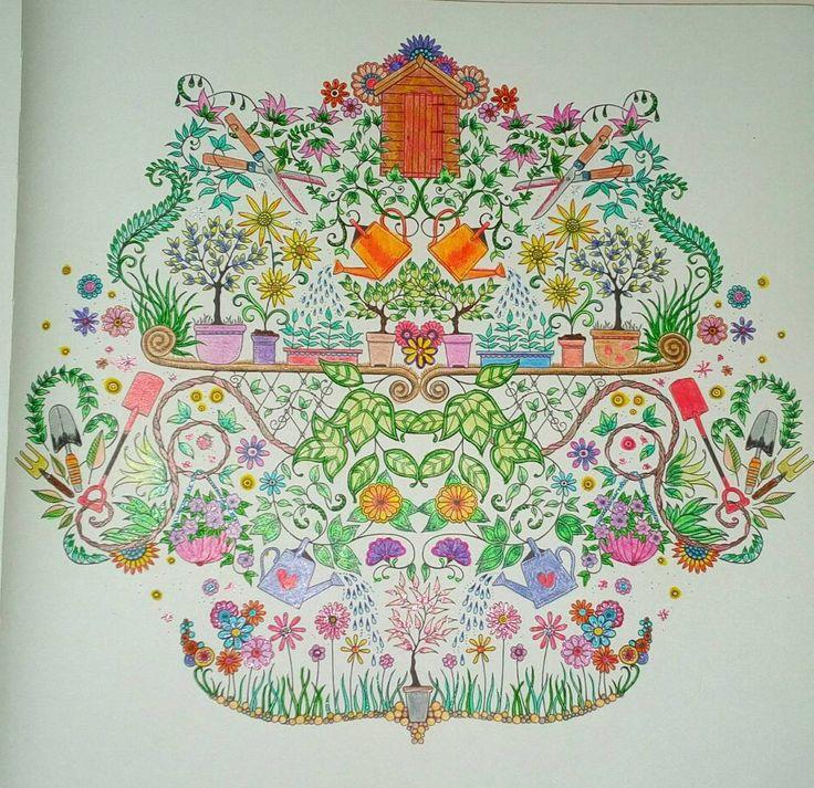 Johanabasford Secretgarden Coloringbook Coloringbookforadults Fabercastell Classic Pencil Colour Brushmarker Gel PensColoring