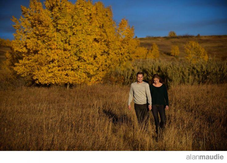 Calgary Engagement Photographer.  Fall color.