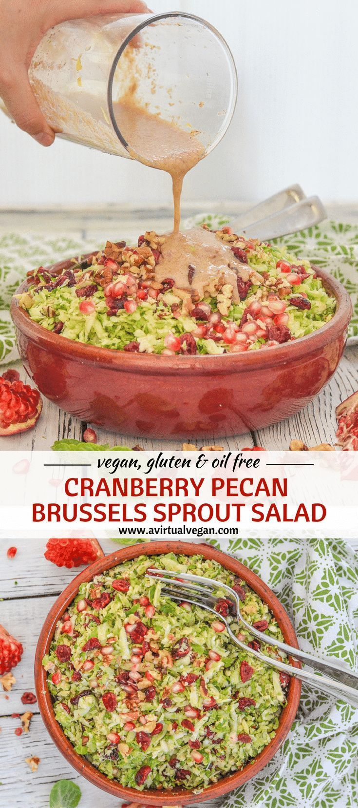 This citrus and cinnamon infused Cranberry Pecan Brussels Sprout Salad is fresh & absolutely packed with flavour & interesting textures. It's also hearty & warming thanks to the orange & cinnamon vinaigrette. Perfect for all of your fall & winter entertaining! The prep was made easy with the Braun MultiQuick 9.   via @avirtualvegan  #sponsored #ConquerTheUnexpected #MQ9