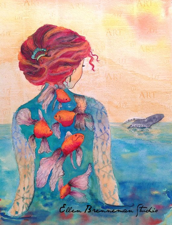 Sea Queen mixed media fine art print