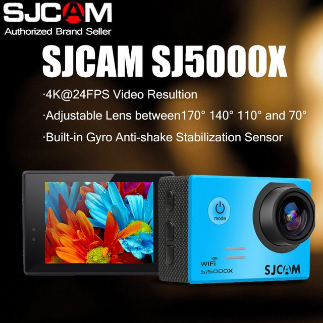 SJCAM Brand SJ5000X Elite WiFi 4K 24fps 2K30fps Gyro Sports DV 2.0 LCD NTK96660 Diving 30m Waterproof Action Camera US $127.20 To Buy Or See Another Product Click On This Link  http://goo.gl/EuGwiH