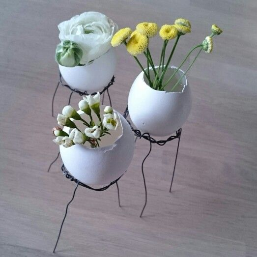 Påske, egg, blomster, ståltråd,  easter,  floker, diy