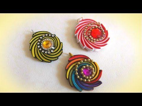 "Кулон ""завиток"" своими руками из косой бейки, мастер класс / DIY  pendant - YouTube"