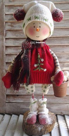 Primitive Pattern - Primitive Christmas Snowman Jake E-Pattern - Primitive…