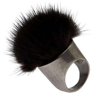 I think if I wear a ring like that the fur will weird me out. However, that mite the point behind the fur