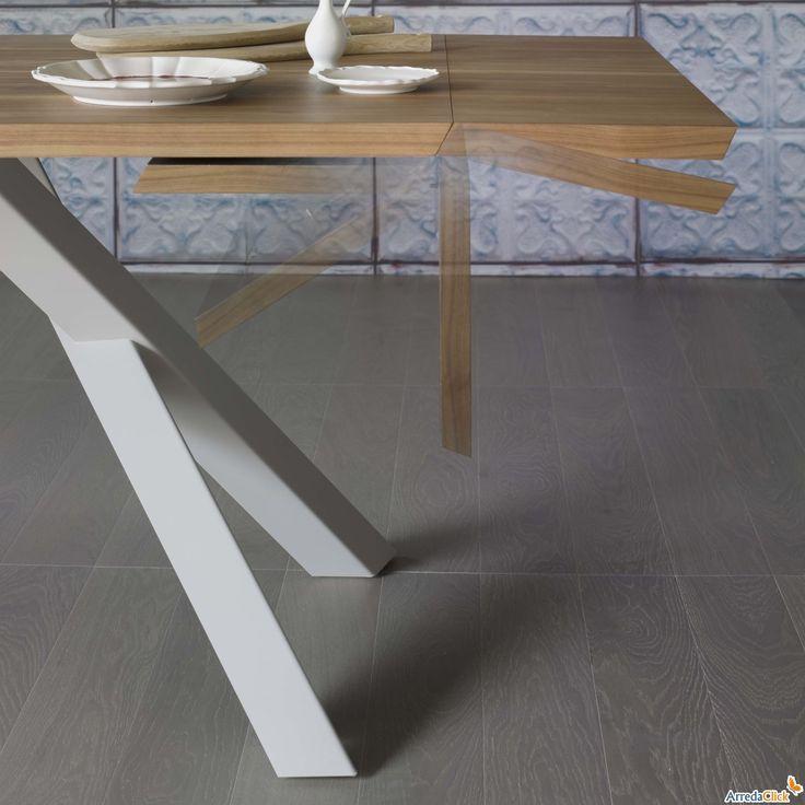 Gustave ausziehbarer Design Holztisch - ARREDACLICK