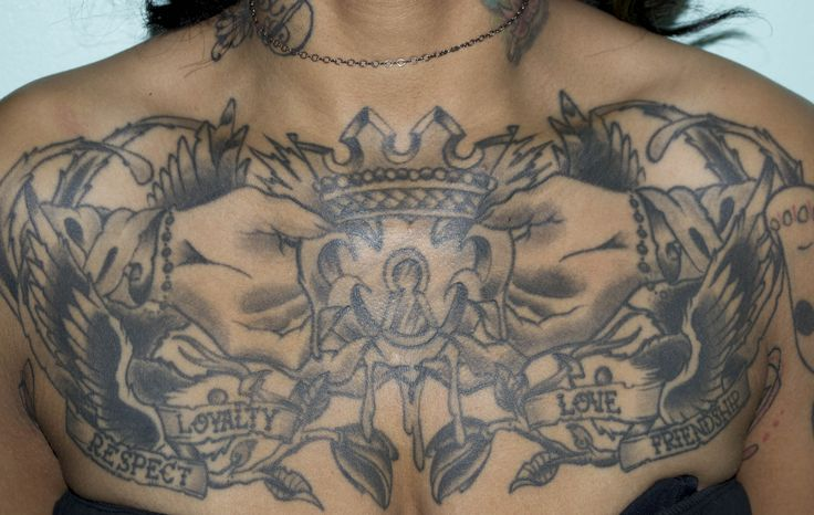 Irish chest tattoos for women tattoo of the week pin up for Chest piece tattoos female