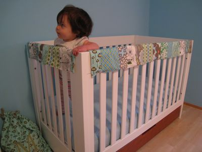 tutorial quilted crib rail cover