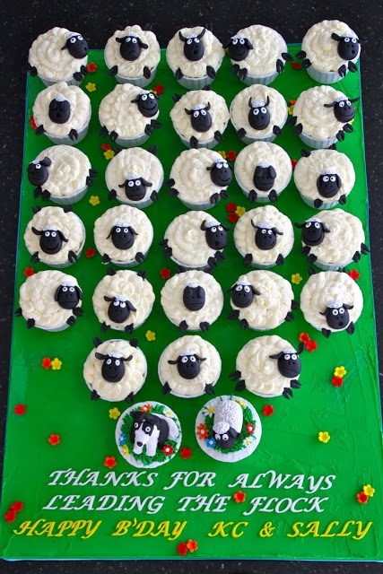 timmy the sheep cupcakes