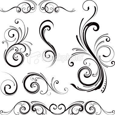Decorative Swirl Motifs Royalty Free Stock Vector Art