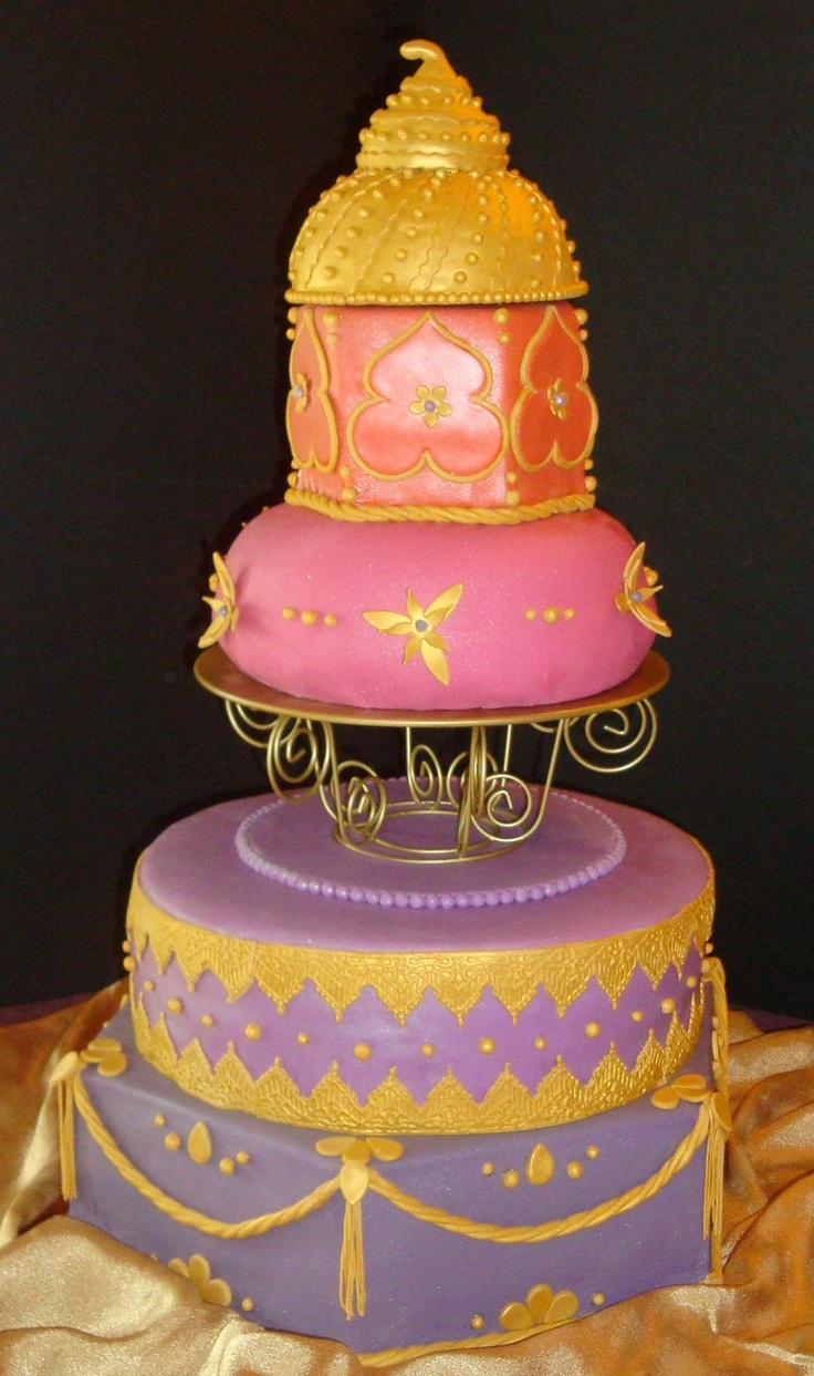 Moroccan themed cake cakes pinterest for Arabian cake decoration