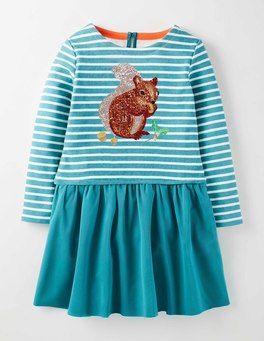 Whirlpool Squirrel Sequin Logo Dress Boden