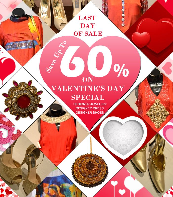 Last day of GRAND ANNUAL SALE with Valentine's day Special   #Islamabad #Fashion #Clothing #Sale #Discount #Valentineday