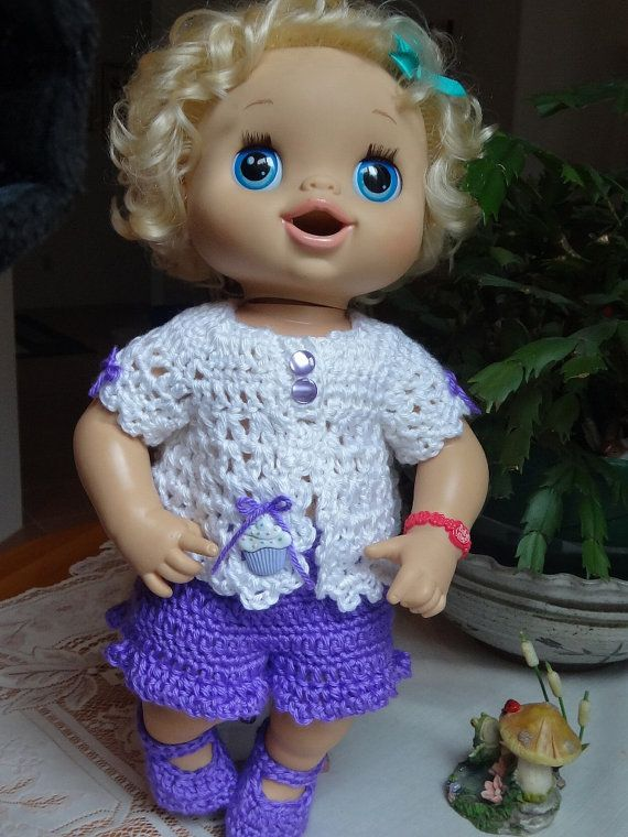 Crochet outfit Baby Alive Doll 16 17 inch by dollcrochetboutique