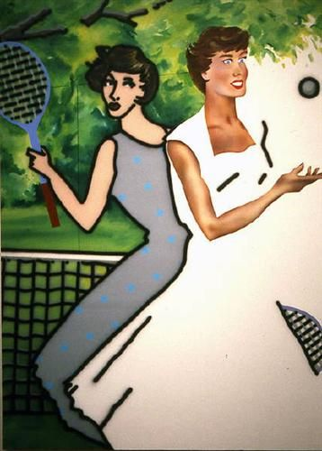 Tennis - Howard Arkley