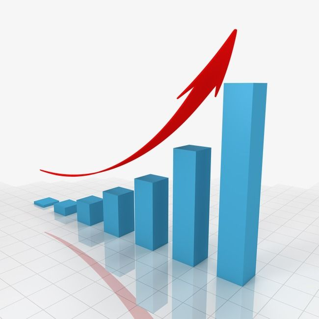 The Blue Bar Graph With A Arrow Creative Business Financial Png Transparent Clipart Image And Psd File For Free Download Bar Graph Design Bar Graphs Graph Design