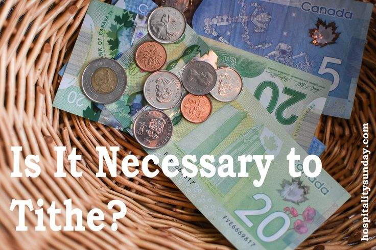 Is it necessary to tithe today?