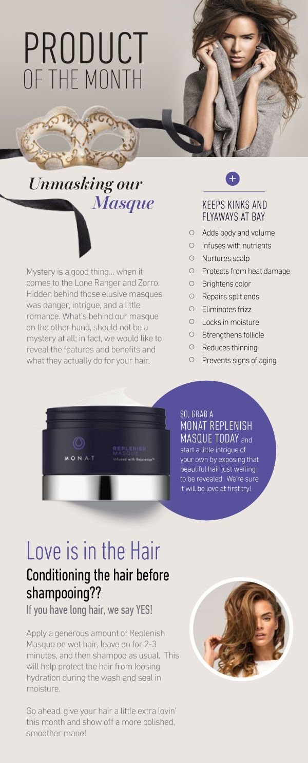 Monat Replenish Masque. The Monat hair system difference. Unlike any other! RobynW.MyMonat.com