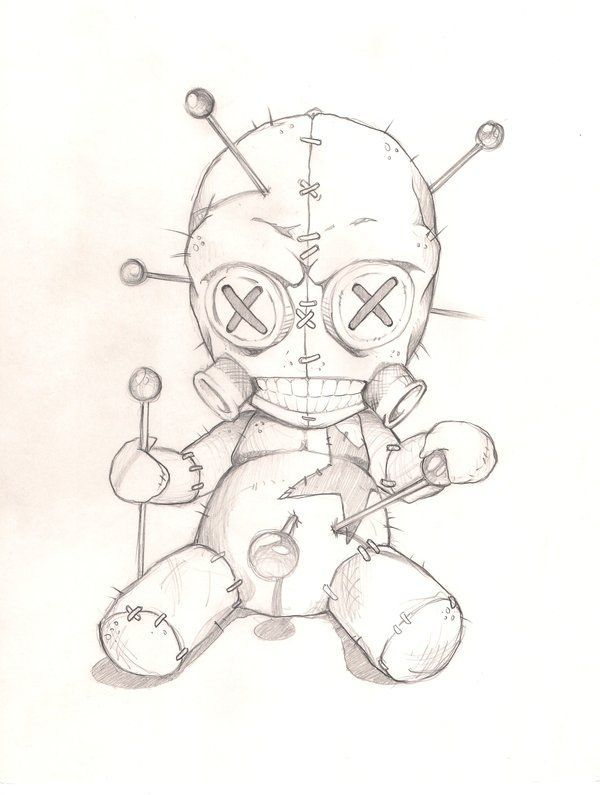 Voodoo Doll 2 by joebananaz Tattoo Flash Art ~A.R. - Tattoos Are Great
