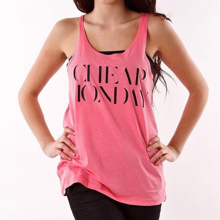 Cheap Monday Nomi Tank - Strawberry Pink