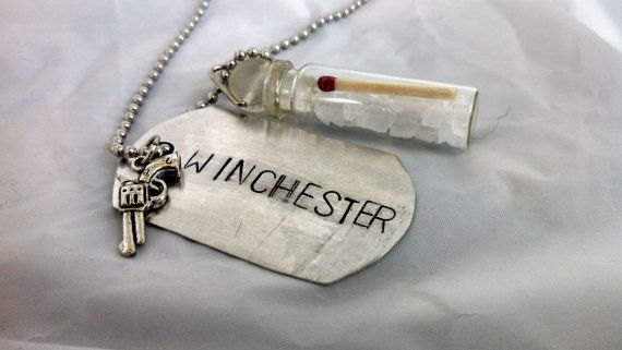 Hey, I found this really awesome Etsy listing at https://www.etsy.com/listing/155233091/supernatural-winchester-bottle-necklace