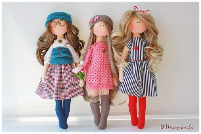 Interior doll cuties by Olesya Nestratovoy (with paper pattern) .. Discussion on LiveInternet - Russian Service Online Diaries