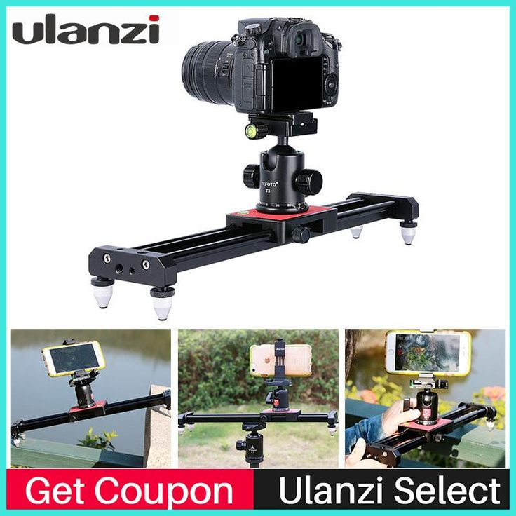 Ulanzi Piortable Camera Track Dolly Slider Video Stabilizer Rail System for Nikon Canon DSLR for Youtube Blog Photography Movie