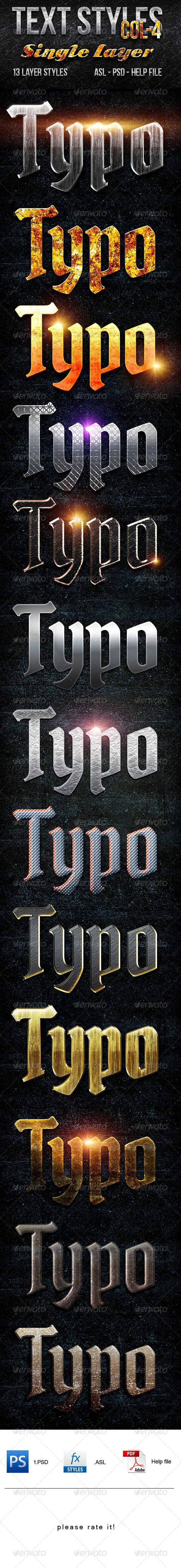 Text Layer Styles -Col 4