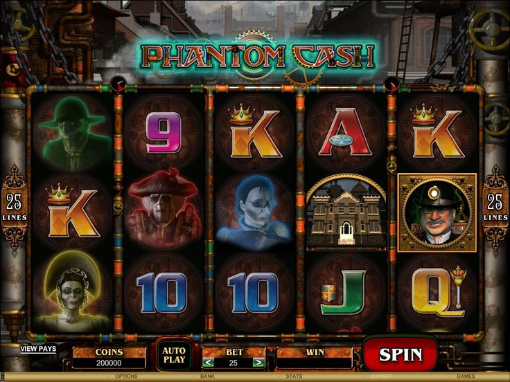 The Phantom Cash Online Slot is a 5 Reel, 25 Payline Video Slot. You'll find this Ghoulish Online Slot at Crazy Vegas Casino: https://www.crazyvegas.com/