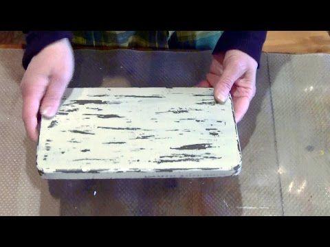 Мастер-класс. Имитация старой деревянной поверхности - YouTube