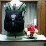 BACKPACK BLACK  30 x 34 x 12 cm 315rb merk, 305rb  no merk