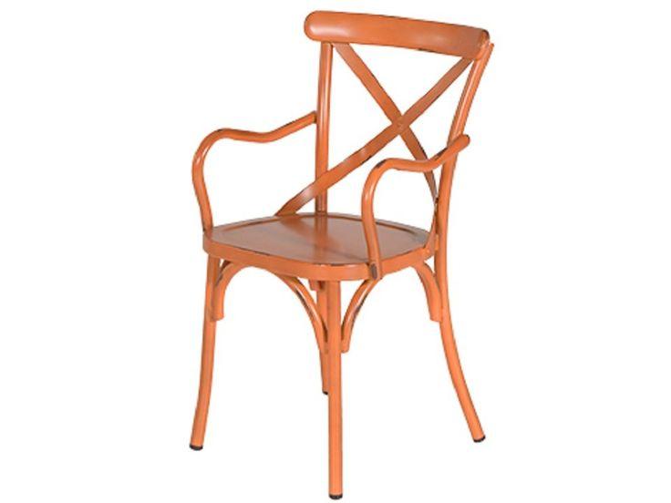 Louise armstoel vintage oranje - Gratis thuisbezorgd!
