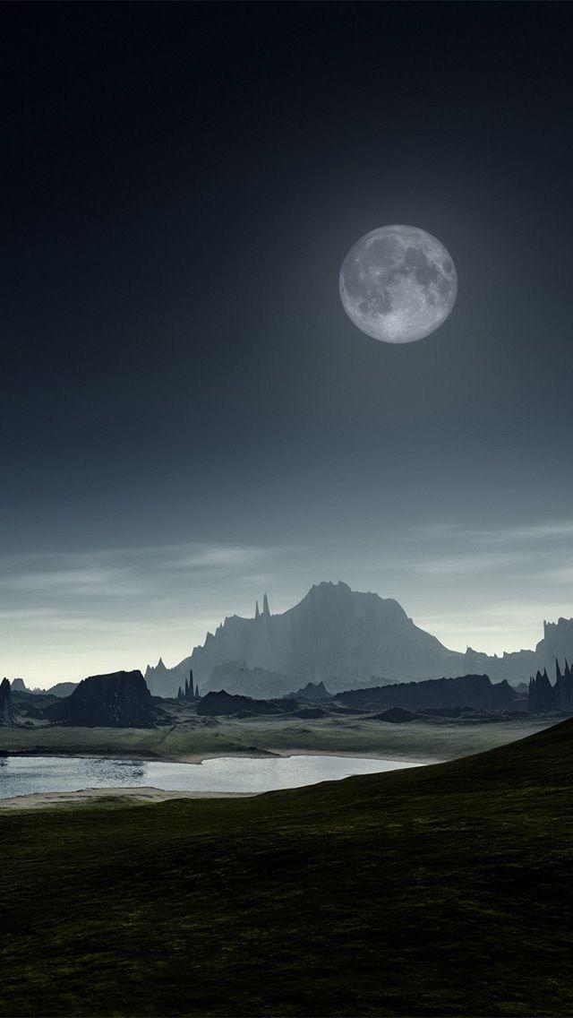 Wallpaper iPhone 5 moon