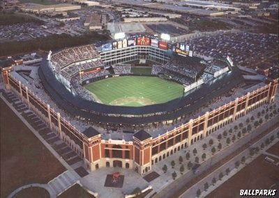Home of the Texas Rangers-Got to see them play the reigning World Series Champs the Boston Red Sox when we went!