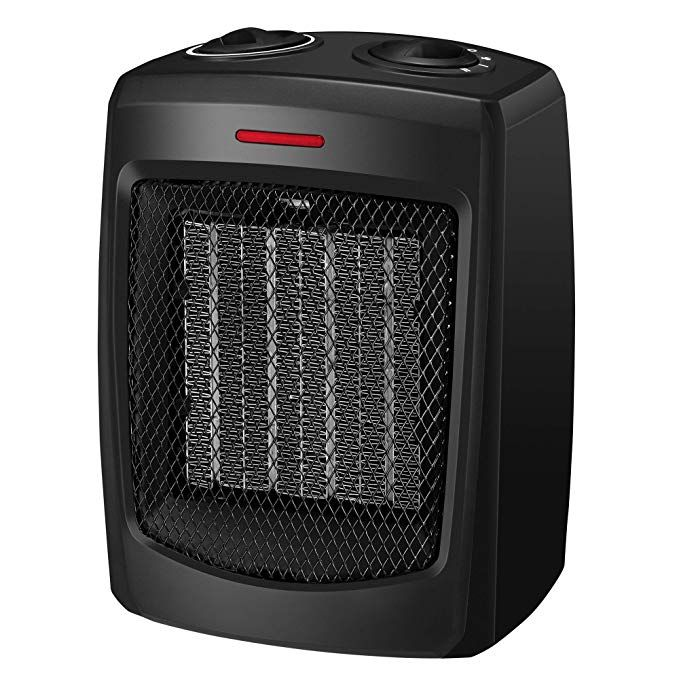 Andily Space Heater Electric Heater For Home And Office Ceramic Small Heater With Thermostat 750w 1500w Small Heater Ceramic Heater Space Heater Best space heater for bedroom