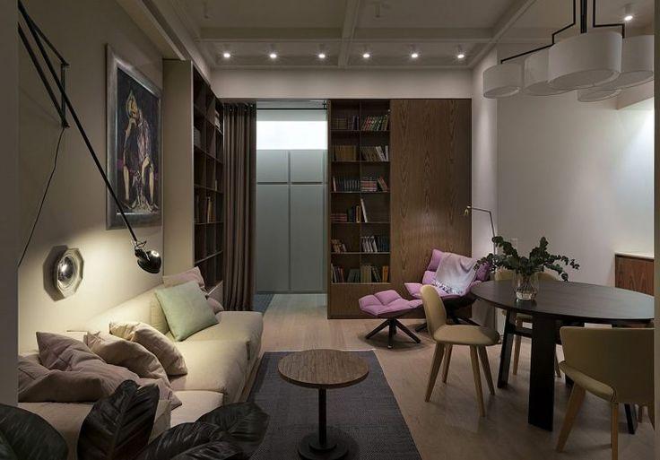 50m2-es, kétszobás lakás elegáns lakberendezéssel, természetes színárnyalatokkal