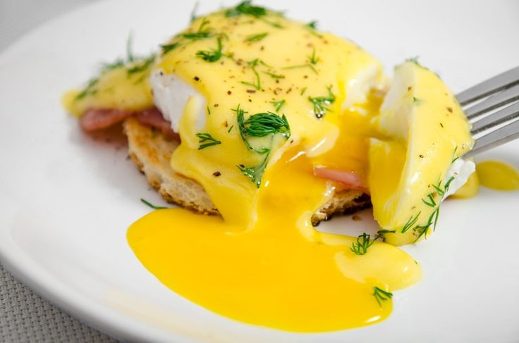 This amazing Eggs Benedict makes enough for four servings but you can always double the ingredients if you want more. This Hollandaise sauce uses some cayenne pepper to give it