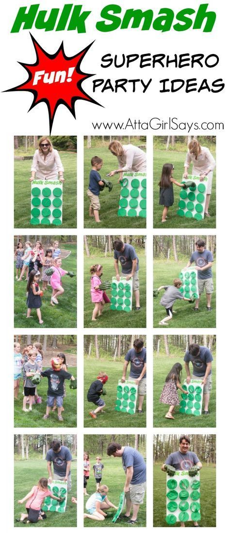 What an awesome idea for a Hulk birthday party. Kids of all ages love this Hulk Smash game! Click for lots more Superhero Party Ideas featuring MARVEL's The Avengers: Age of Ultron #AvengersUnite #cbias #ad
