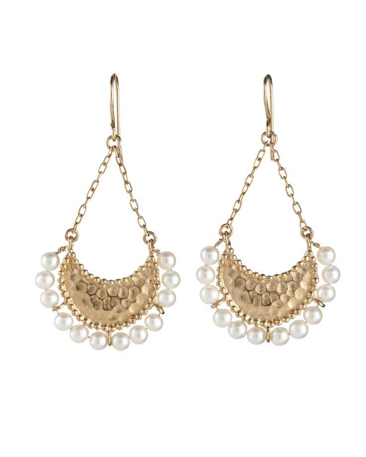 Nani Earrings, freshwater pearl, gold plated https://kerryrocks.com.au/product/nani-earring-gold-pearl