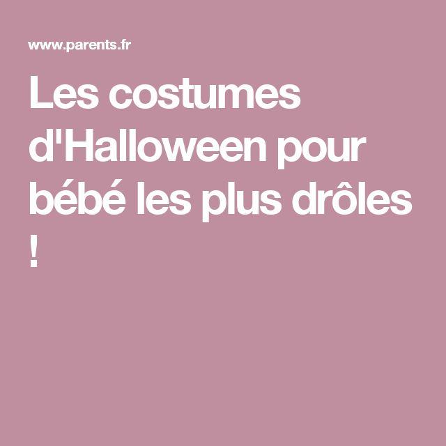 Les costumes d'Halloween pour bébé les plus drôles !
