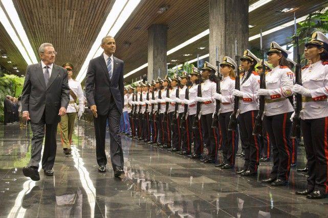 21 mars 2016 - Raúl Castro reçoit Barack Obama
