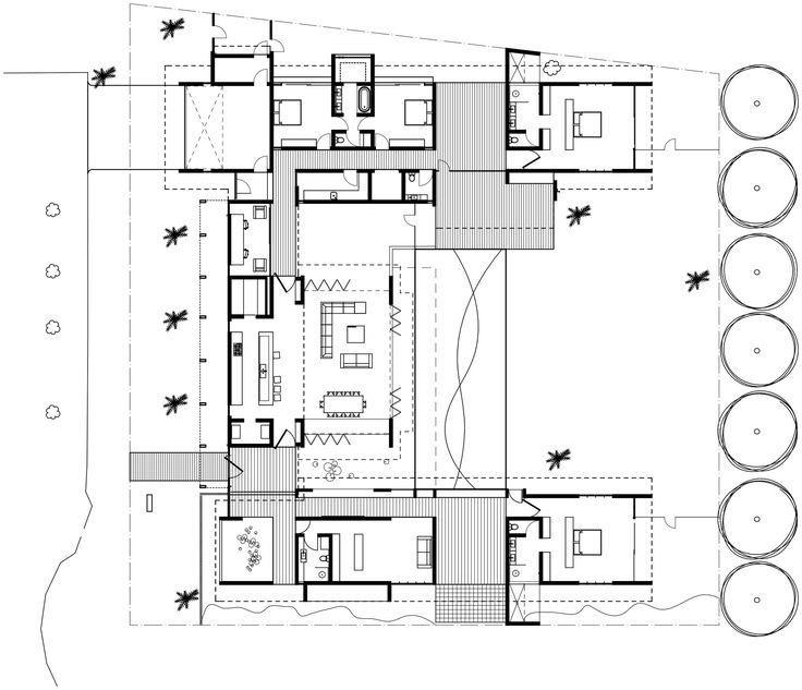 2458 best interior plan images on pinterest arquitetura for Tropical home floor plans