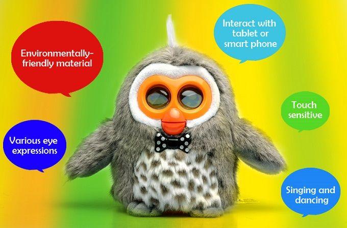 """Giocattolo Intelligente Elletronico """"Hibou Gufo"""" Interactive, Educativi, Applicazione gratuita Android + Dispositivi iOS - Gadget Elettronici"""