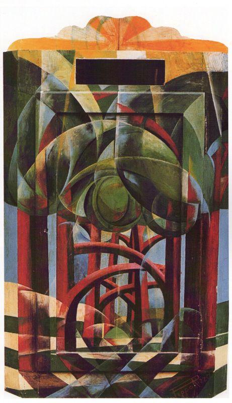 Angoliera, 1928 by Pippo Rizzo (Italian 1897-1964) olio su legno