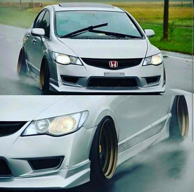 That honda though #dropped #clean