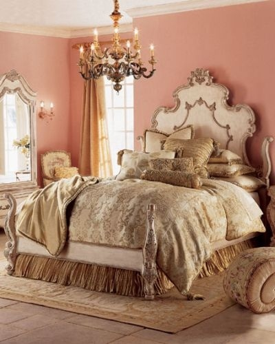 Pink and gold bedroom love in the boudoir pinterest for Pretty bedroom accessories