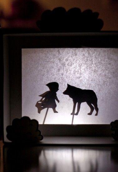 Manualidades para niños, teatro de sombras
