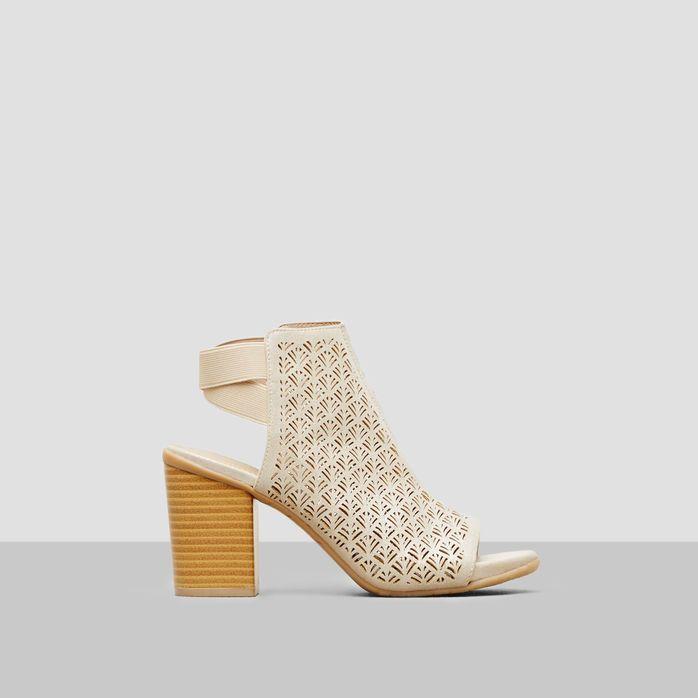 Fridah Apple Metallic Laser Cut Heel